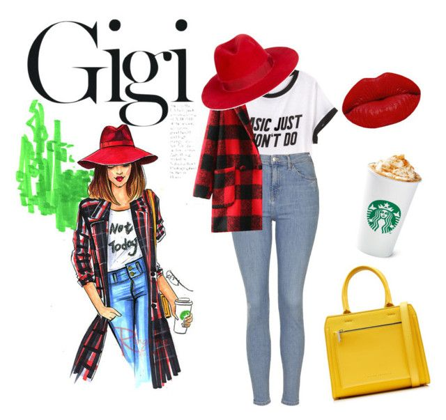 """""""Spring Outfit 101"""" by bevymonique-181 on Polyvore featuring H&M, Topshop, Victoria Beckham, Filù Hats, Winky Lux, Spring and SpringCollection"""