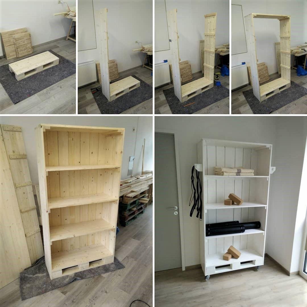 Pallets Shelves DIY Wood Pallet Shelving Cabinet