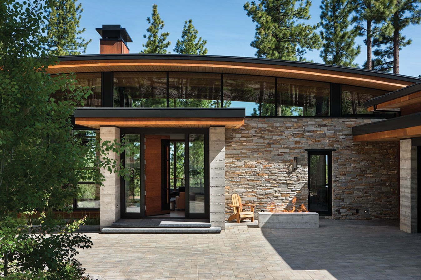 Martis camp home blends in yet stands out with a simple arc and martis camp home blends in yet stands out with a simple arc and geometric masses the malvernweather Image collections