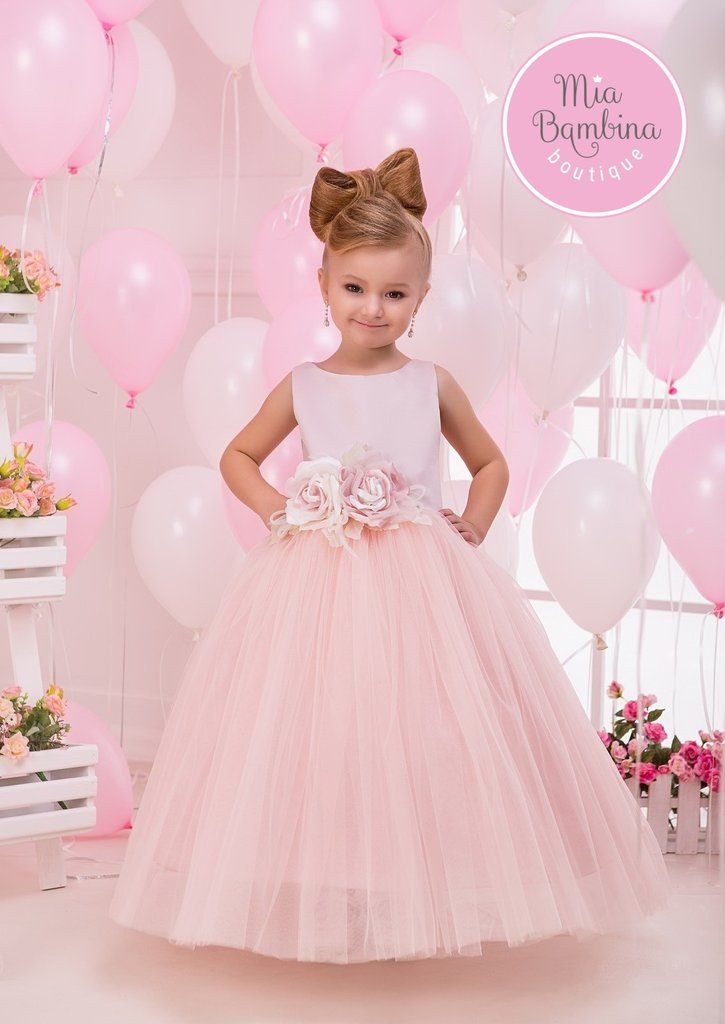 Buy Emma - Pink Tank Top Junior Bridesmaid Dress with Tulle Skirt ...