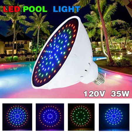 120v 35watt Color Changing Led Pool Light Bulb For Inground Pool Fit In For Pentair And Hayward Pool Light F Led Pool Lighting Swimming Pool Lights