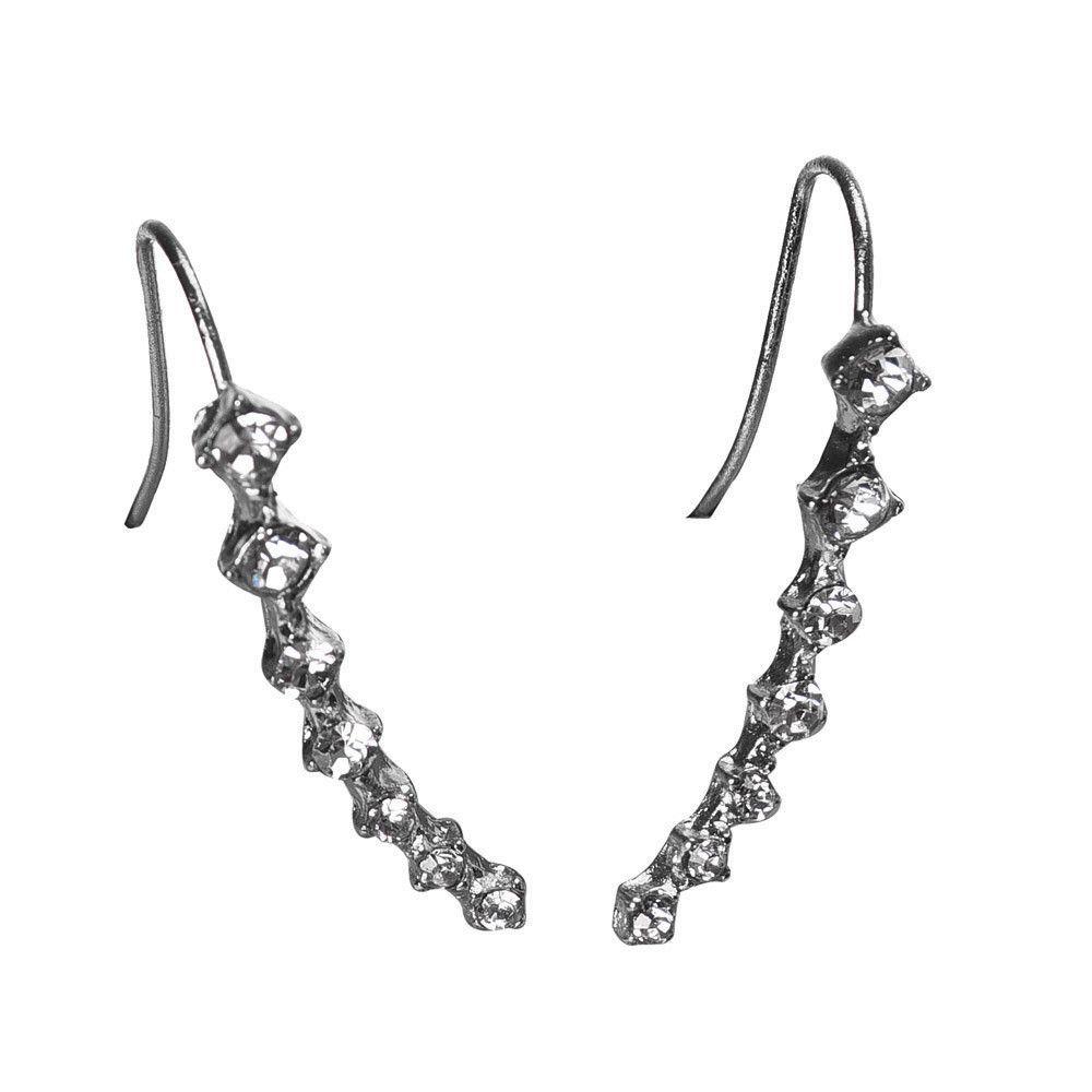 Fashion Women Elegant Crystal Rhinestone Ear Stud Earrings