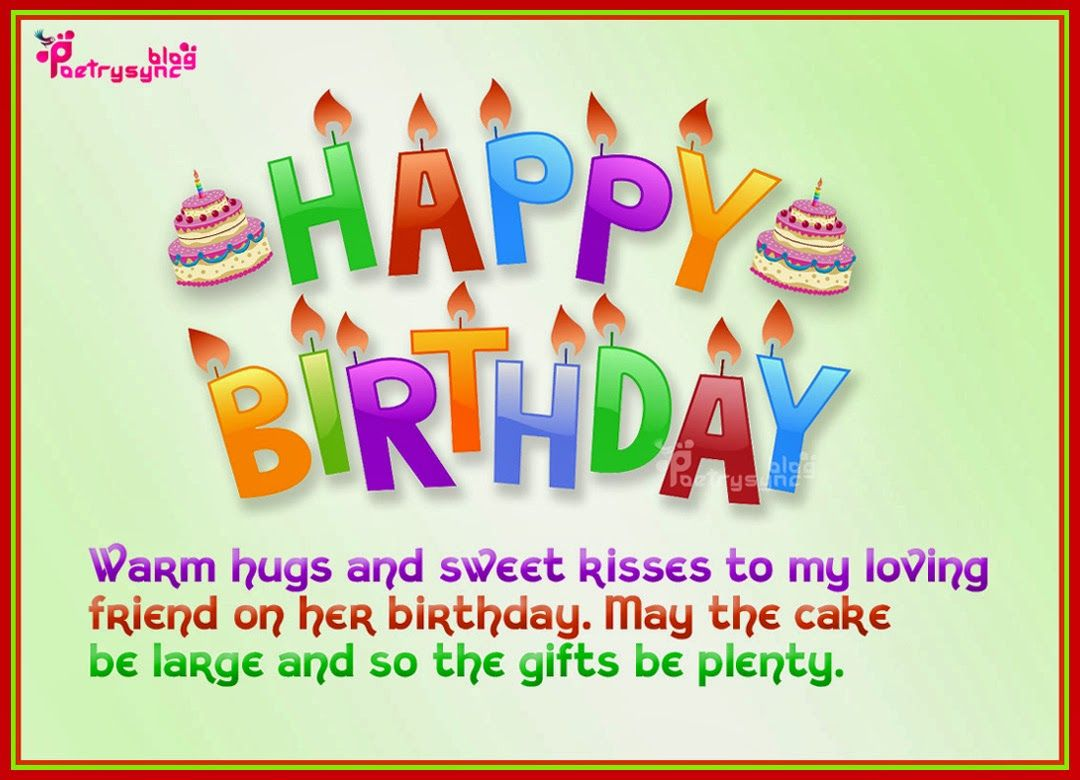 Happy Birthday Friend Messagehappybirthdaywishesonline – Birthday Cards Greetings Friend