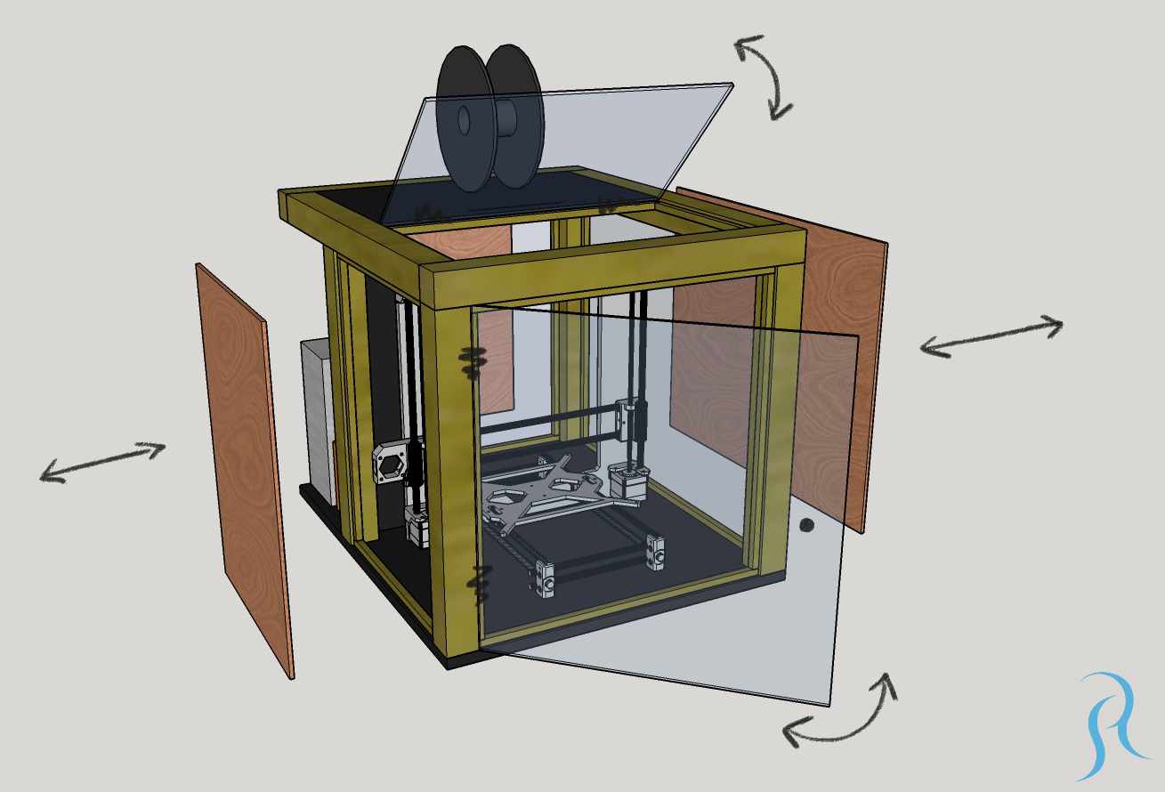 How I Built My Diy 3d Printer Enclosure With Tips And Ideas How To Build Yours Goes Through The Whole Process F 3d Printer Enclosure 3d Printer Diy 3d Printer