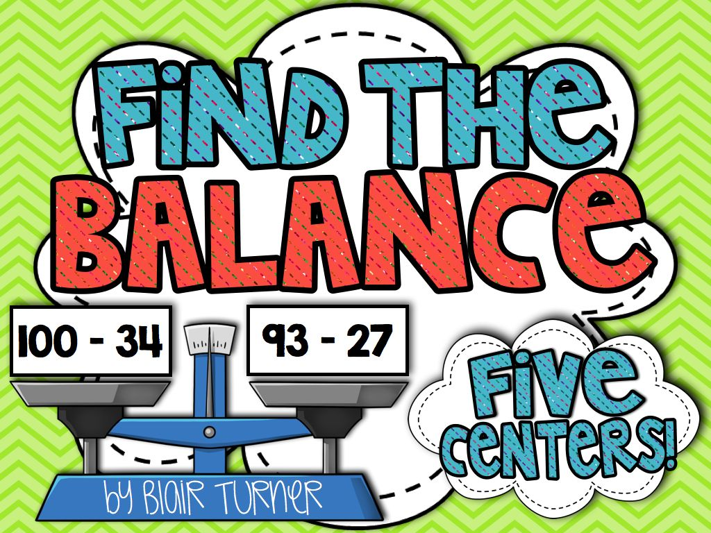 Find The Balance Equations And Inequalities Centers