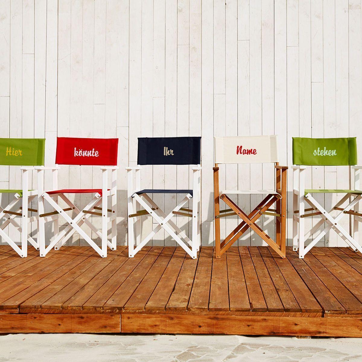 Hollywood Regiestuhl Natur Creme Outdoor Furniture Sets