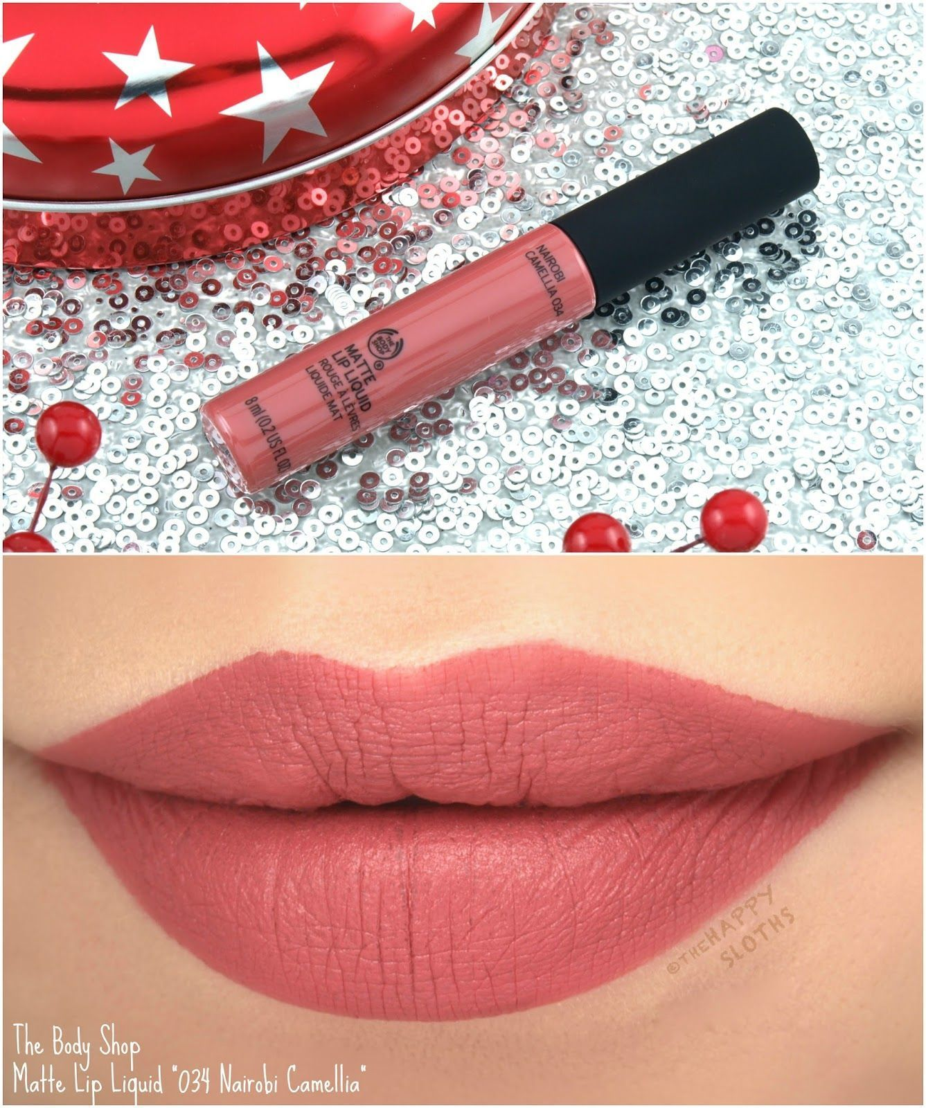 "The Body Shop Matte Lip Liquid in ""034 Nairobi Camellia"
