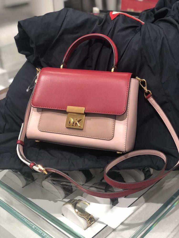 327002da75c1 NEW MICHAEL KORS MINDY WOMENS LEATHER MEDIUM SATCHEL CROSSBODY HANDBAG  BLOSSOM  fashion  clothing  shoes  accessories  womensbagshandbags ...