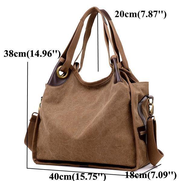 Hot-sale designer Women Large Capacity Canvas Casual Handbag Shopping  Travel Shoulder Bags Online - NewChic  GenuineLeatherHandbags   LeatherHandbagsTutorial 95e0fc977fd58