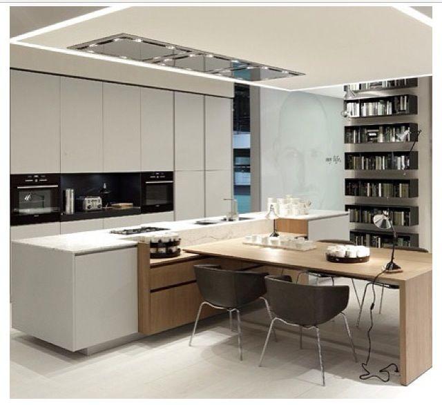 Hermosa combinación de materiales y juego de volúmenes kitchen