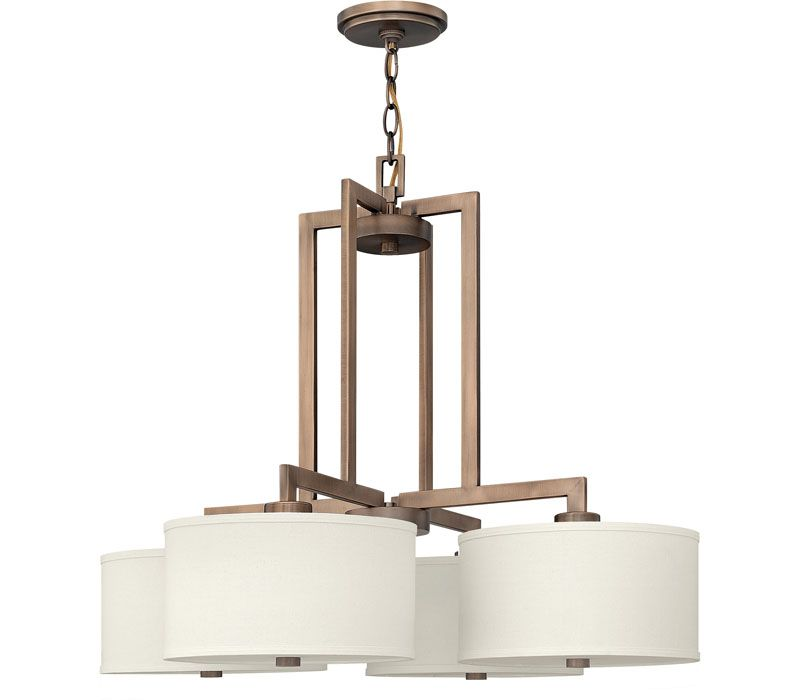Hinkley Lighting 3214BR Hampton 4 Light Chandelier at Del Mar Fans & Lighting, over 100,000 happy customers