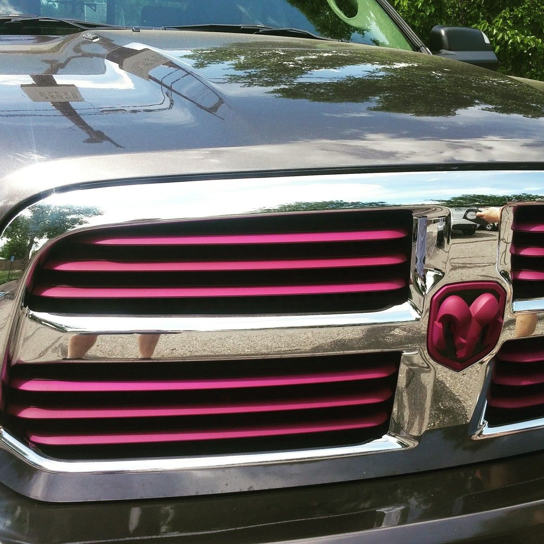 medium resolution of ram truck with plasti dip purple grill