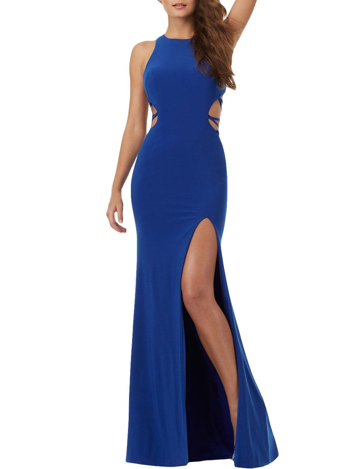 Promme mermaid prom dresses scoop with open back sexy party