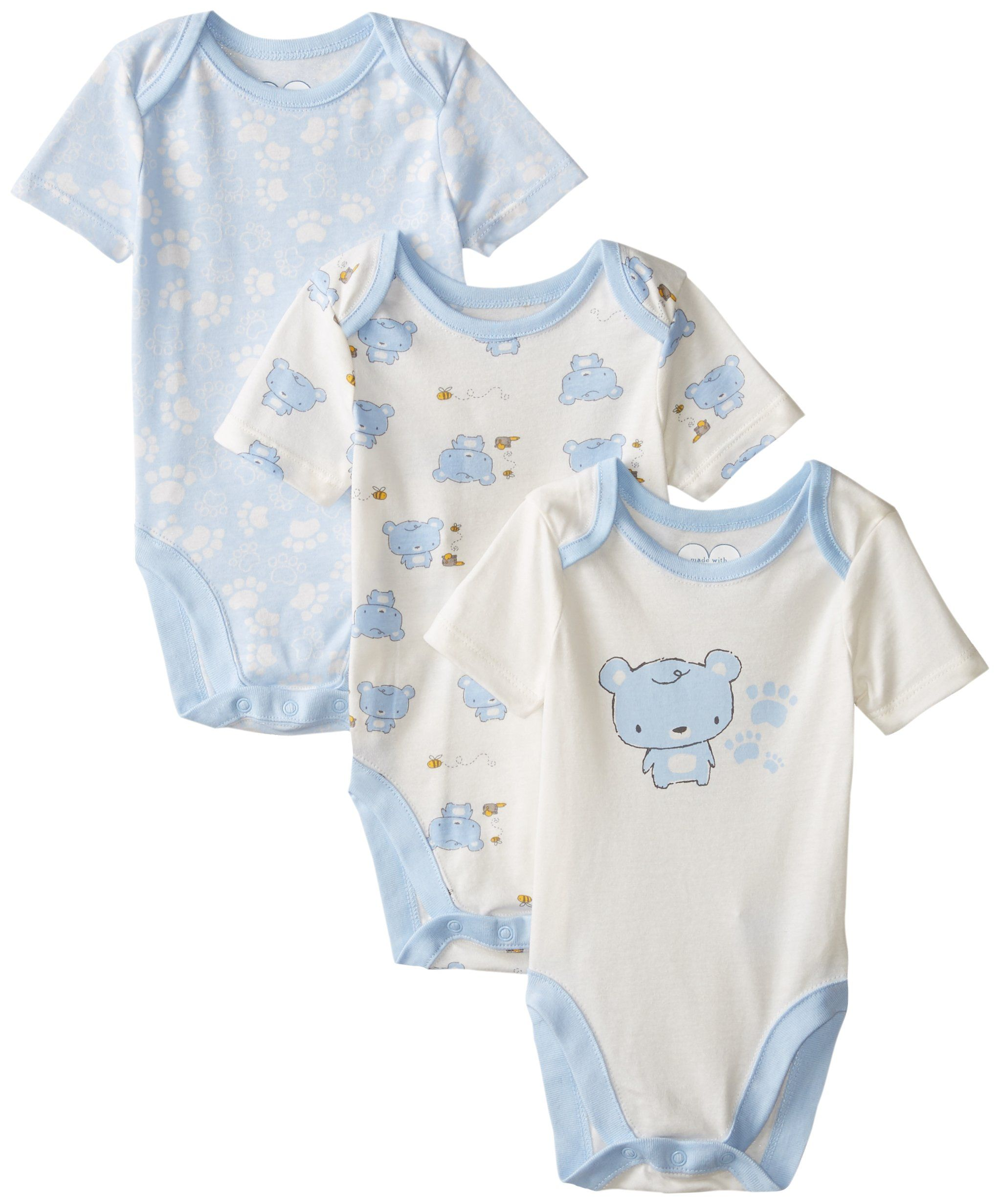 The Children s Place Baby Boys Infant Bear 3 Pack Bodysuits Brook