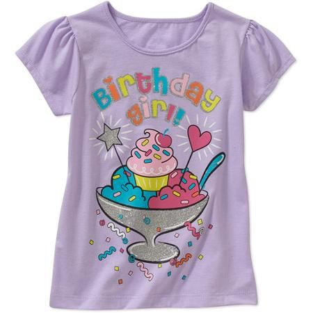 522769ec Baby Toddler Girl Birthday Graphic Tee Shirt - Walmart.com ...