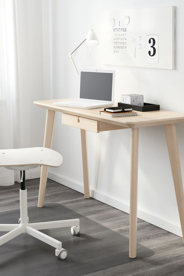 "LISABO Desk ash veneer 46 1/2x17 3/4 "" in 2020 Home"