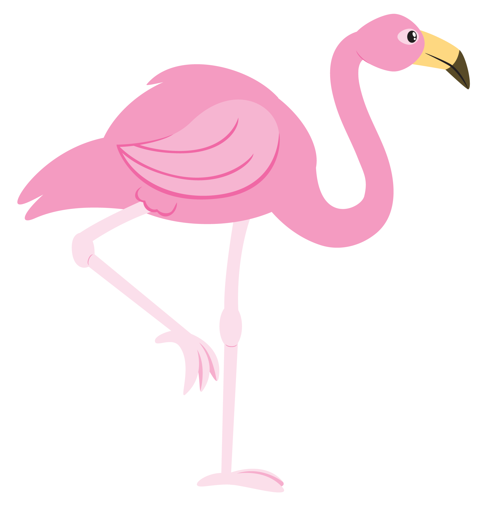 Pink Flamingo Cartoon Clipart Clipart Kid stuff