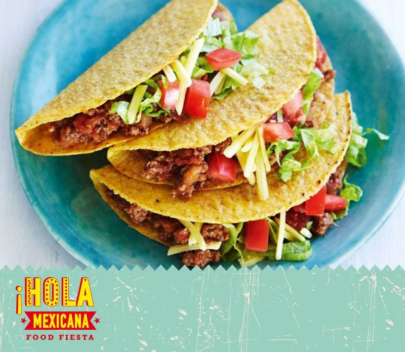 #HolaTaco #MexicanConCorne #MondayTaco Εθιστική Λατρεία τα Taco με λαχταριστό μοσχαρίσιο κιμά με φασόλια, φρεσκοκομμένο μαρούλι και PicoDeGallo {με δύο πιπεριες} ... Καυτερό τόσο ...όσο !!! Το σηκώνει και η μέρα άλλωστε ... #HolaMexicana #Mexican #Food #Fiesta #En #Salónica [Online:http:www.holamexicana.gr]