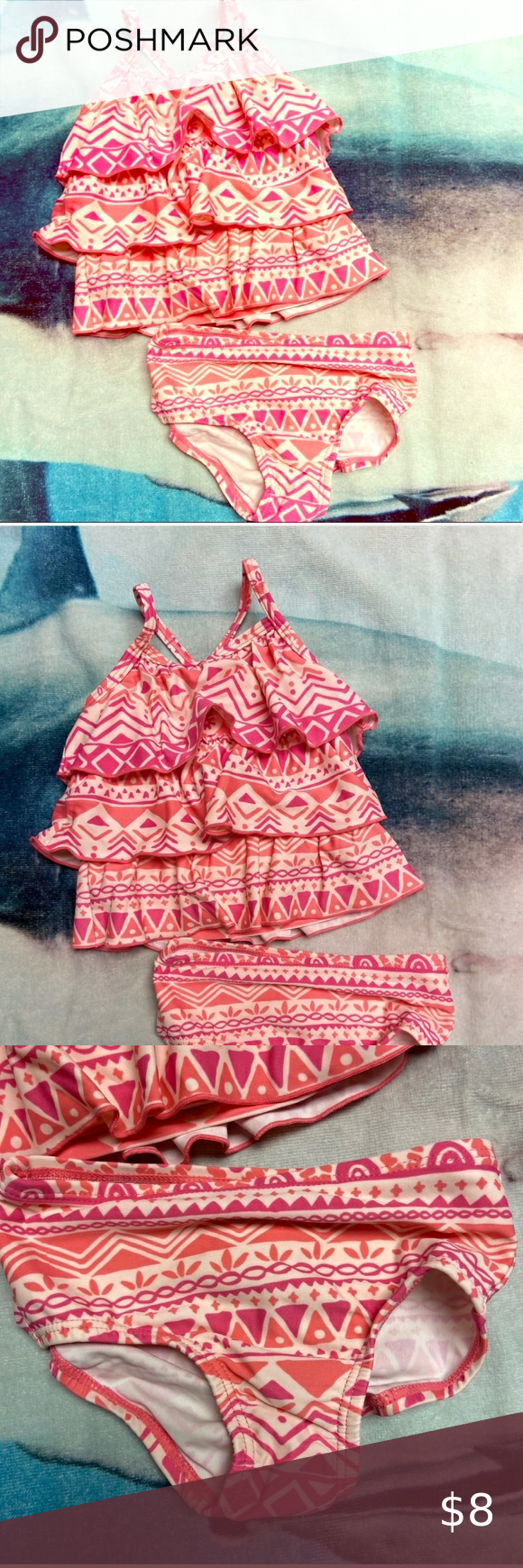 NWT BABY GIRL 2pc BATHING SUIT SIZE 3-6 MONTHS