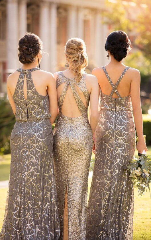 8994 Sequin Bridesmaid Dress With Halter Neckline Available At Blush Bridal Prom Concord