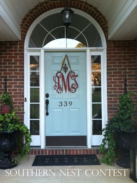 \ I painted my front door green just so my red monogram would stand out. : door monogram - pezcame.com