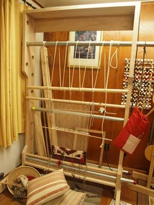 Navajo Loom And Warping Frame Weaving Rug