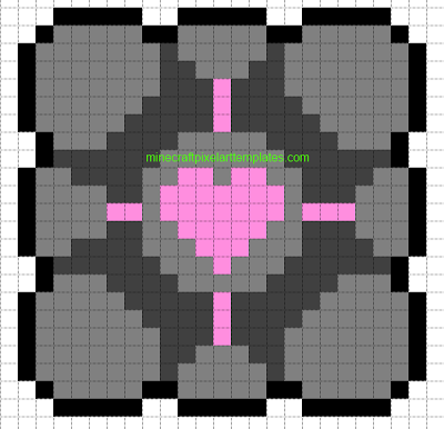 Companion Cube Minecraft Pixel Art Templates Companion