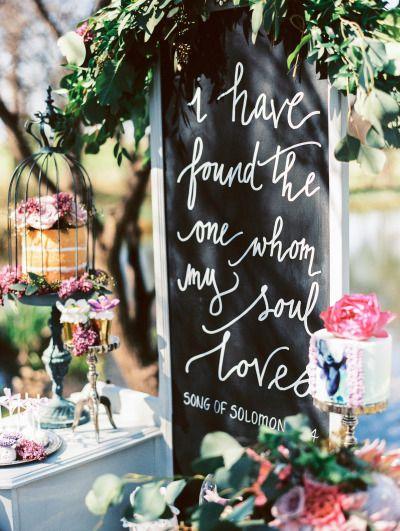 Gorgeous sign: http://www.stylemepretty.com/oklahoma-weddings/edmond/2015/06/02/lovely-lavender-wedding-inspiration/ | Photography: Sheradee Hurst - http://www.sheradeehurstphotography.com/