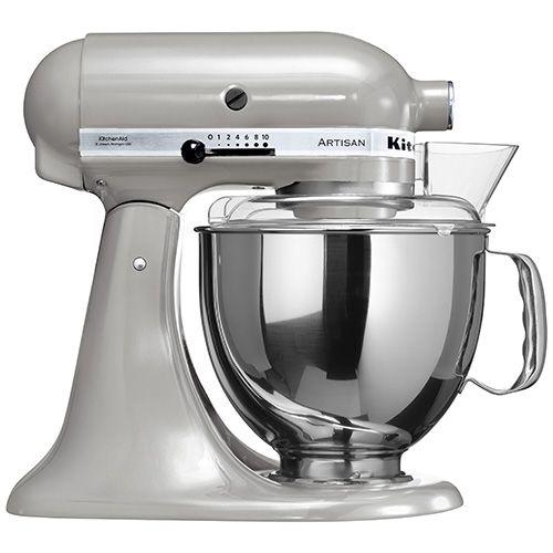 kitchenaid artisan metallic chrome food mixer with free gifts