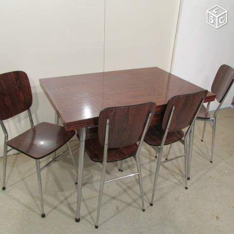 table chaises en formica ameublement