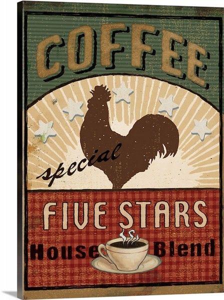 coffee blend label iii print daphne brissonnet find this rooster rh pinterest ca Kitchen Art Canvas for Fruit Fruit Artwork