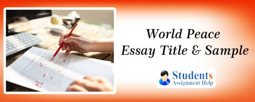Essay about peace through service