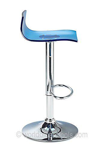 Chaise de bar transparente bleu Chaises transparente