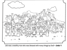 Job Coloring Page | JOB !!! | Sunday school coloring pages ...