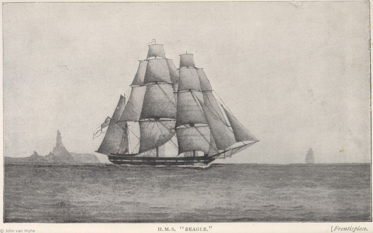 H M S Beagle From A Sketch By Darwins Shipmate John Clements