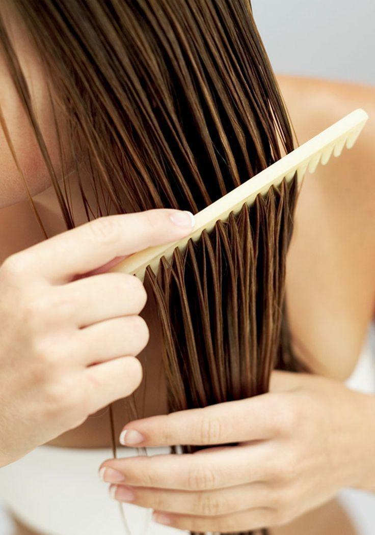 Homemade leave in hair conditioner and detangler wet