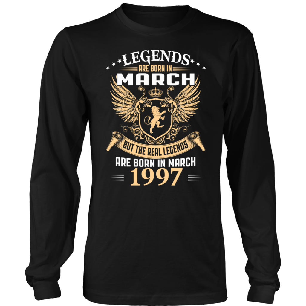 Birthday Gift Legends are Born in February Mens Long Sleeve T-Shirt