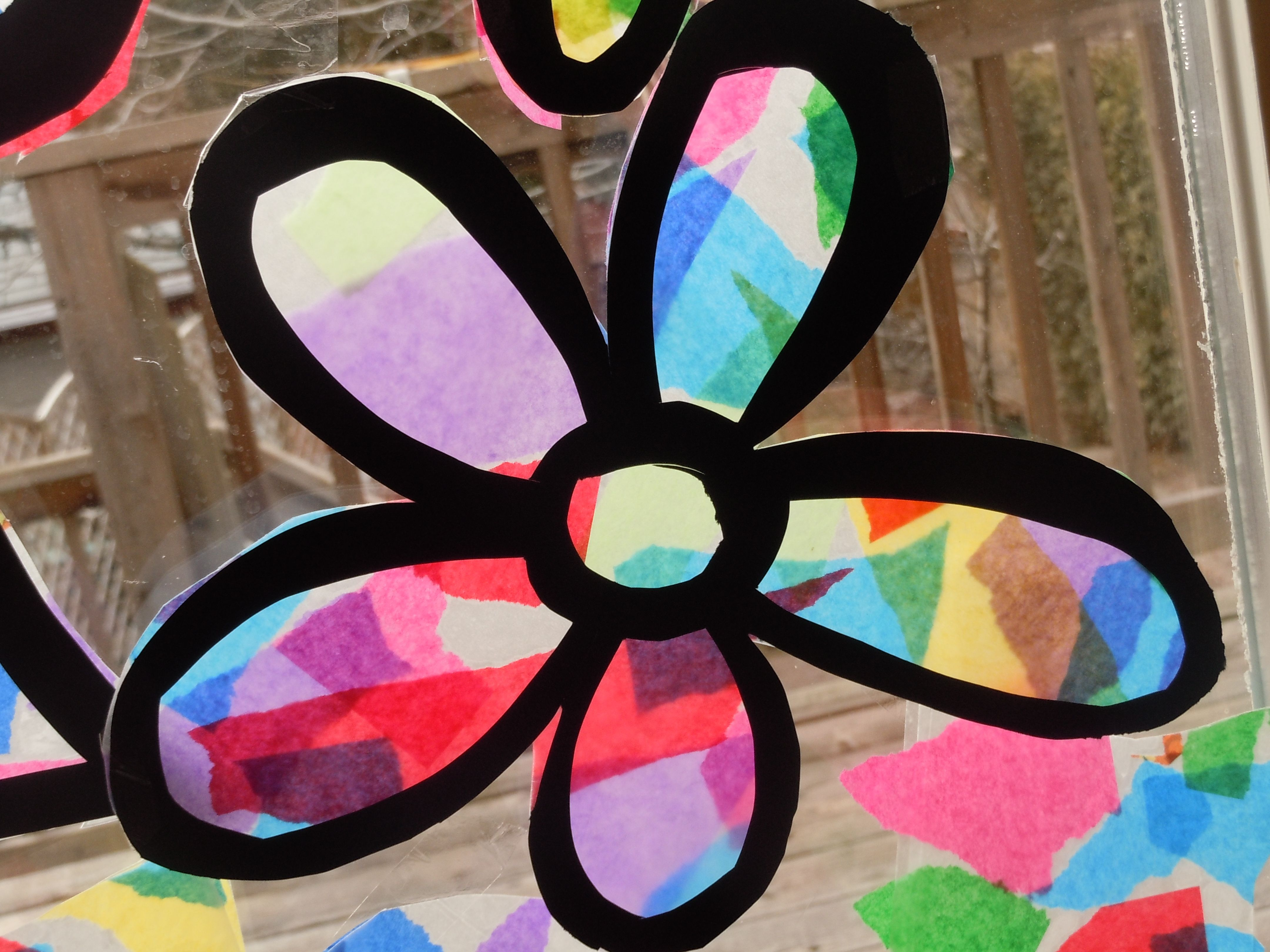 Best place to buy contact paper - Tissue Paper Stained Glass Craft