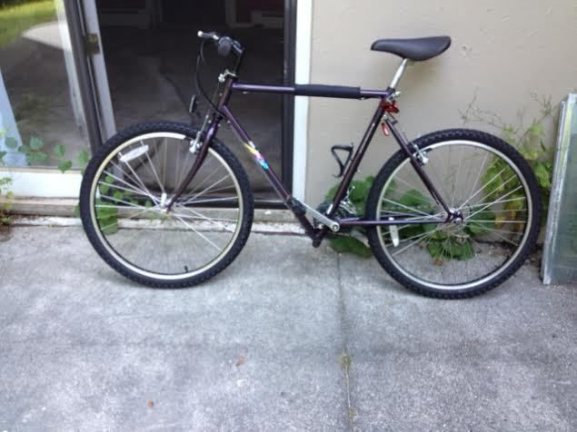Bmw Montague Folding Mountain Bicycle Lightweight Biframe Purple