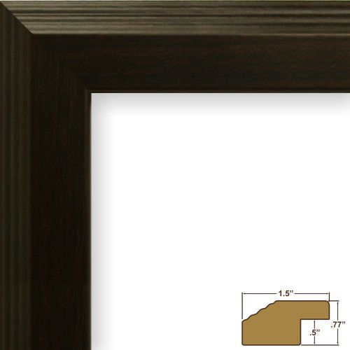 24x36 Picture Poster Frame Smooth Grain Finish 127 Wide Walnut Brown Fw4wa You Can Find More Detail Craig Frames Black Picture Frames Brown Picture Frames