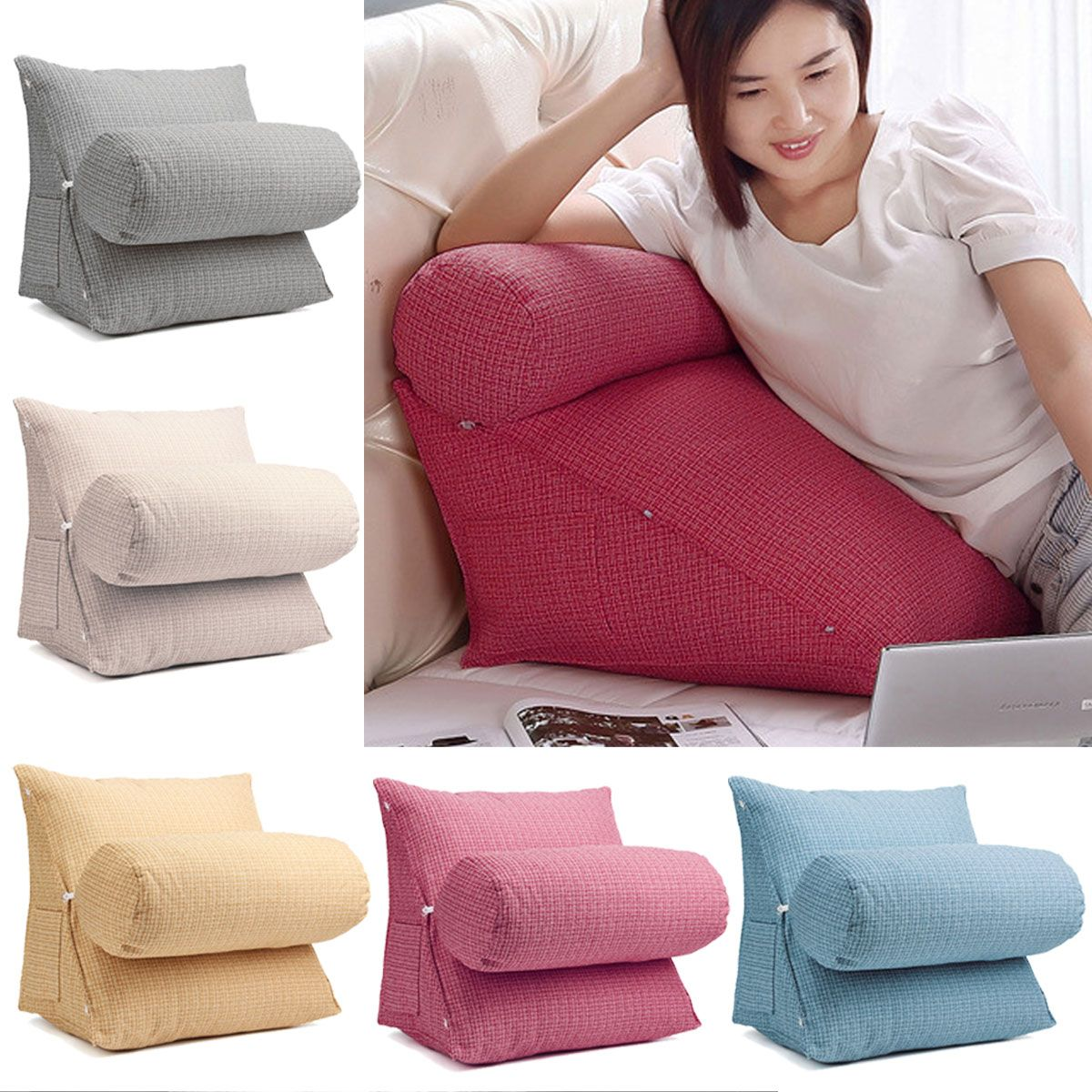 Kadell Adjustable Back Wedge Micro Plush Bedrest Cushion Pillow Sofa Bed Office Chair Rest Waist Neck Support Walmart Com In 2020 Sofa Pillows Sofa Bed Office Cushions On Sofa