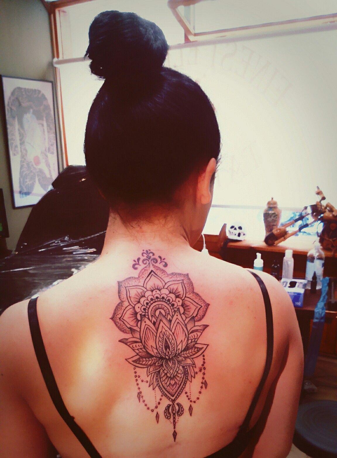 New tattoo.... Love it !!!!!!Lotus -mandala