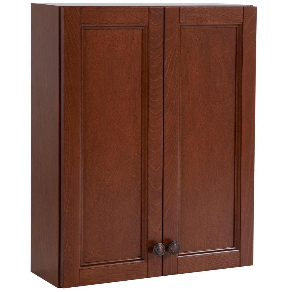 Fresh Cherry Wood Storage Cabinets with Doors