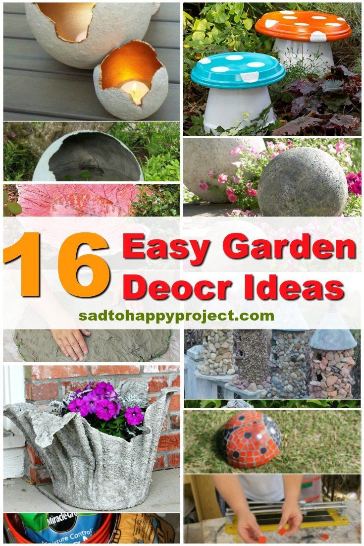 16 Diy Garden Decor Ideas Which Are Easy To Do Diy Garden Diy