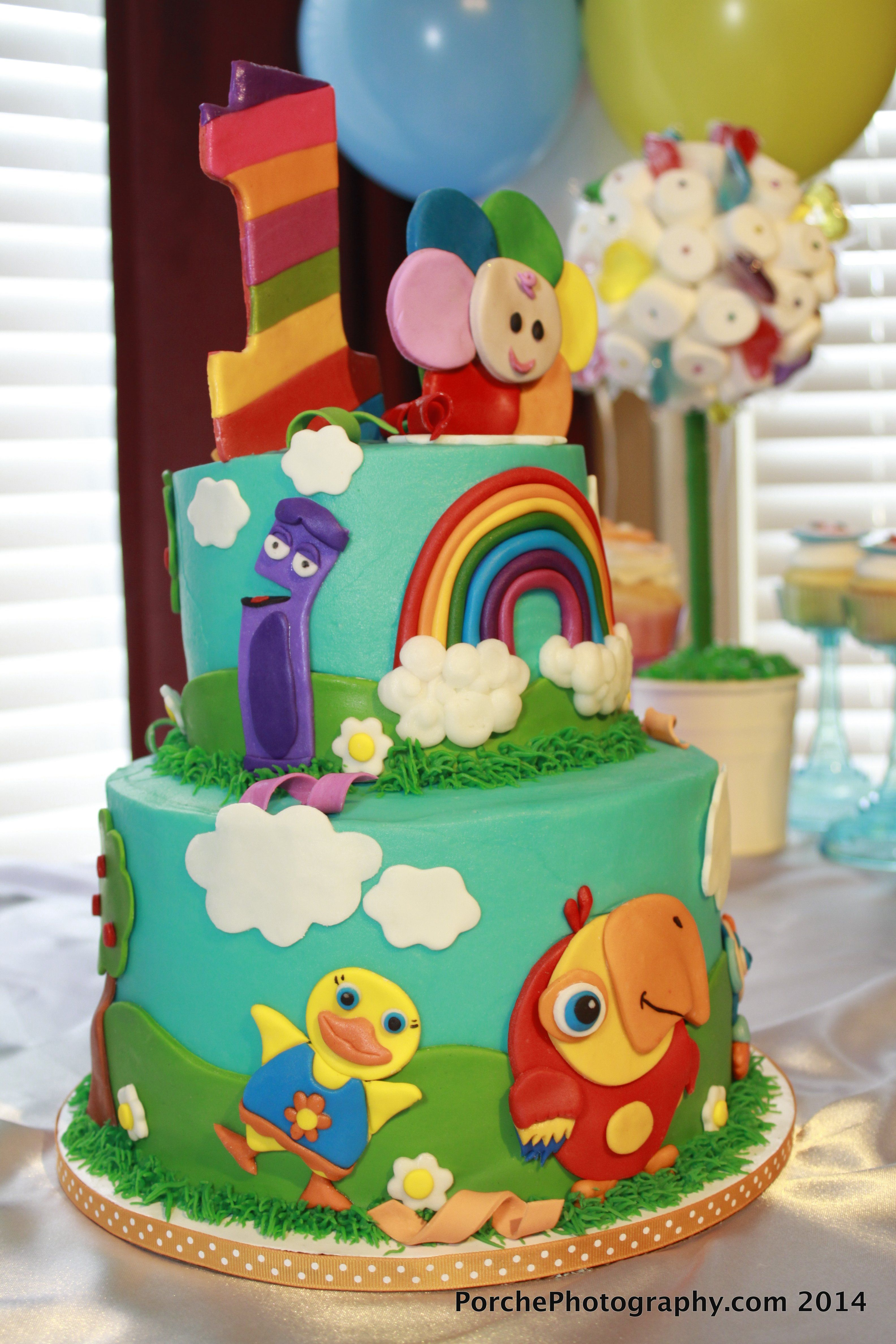 Babyfirst Tv Birthday Cake 1st Birthday Party With Images