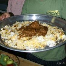 Nasi Briyani Kambing Served In Dulang Indian Food Recipes Food Malaysian Food