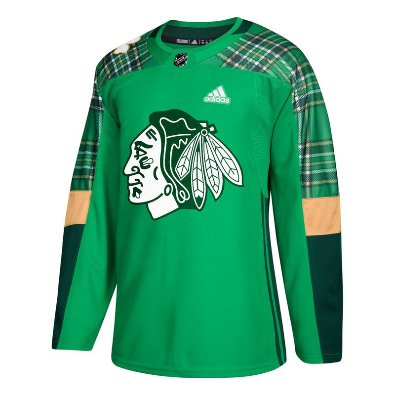 3e2c6f63da9 Chicago Blackhawks adidas St. Patrick's Day Authentic Practice Jersey –  Green