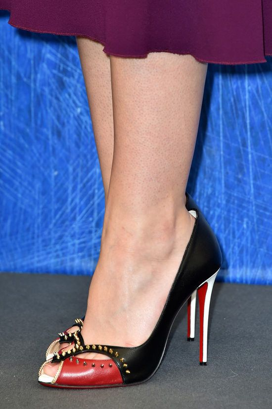 """Dakota Fanning attends a photocall for """"Brimstone"""" during the 73rd Venice Film Festival in Venice in Christian Louboutin Peep-Toe Pump"""