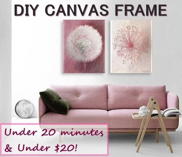 Easily Stretch & Frame Canvas Artwork Yourself Using a Standard ...