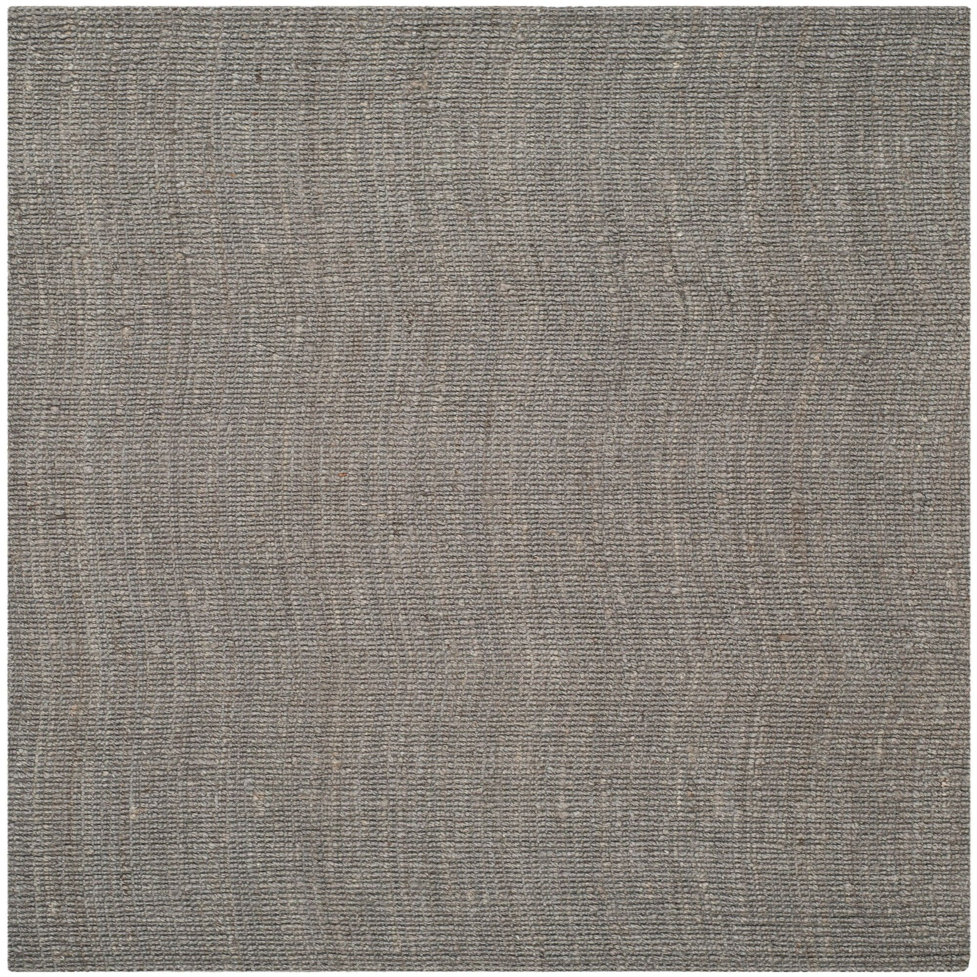 10 X10 Solid Woven Square Area Rug Light Gray Safavieh Natural Fiber Rugs Area Rugs